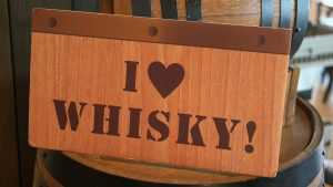 Sign that says I Heart Whisky
