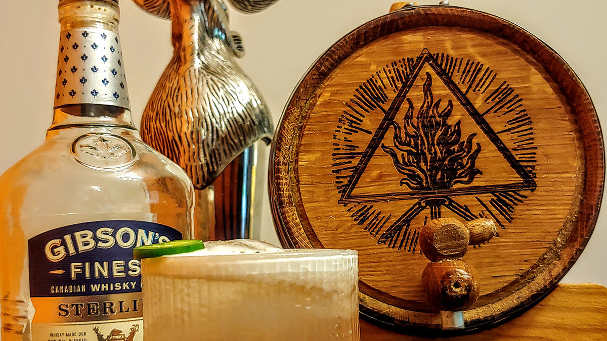 Image of a jalapeno whisky sour