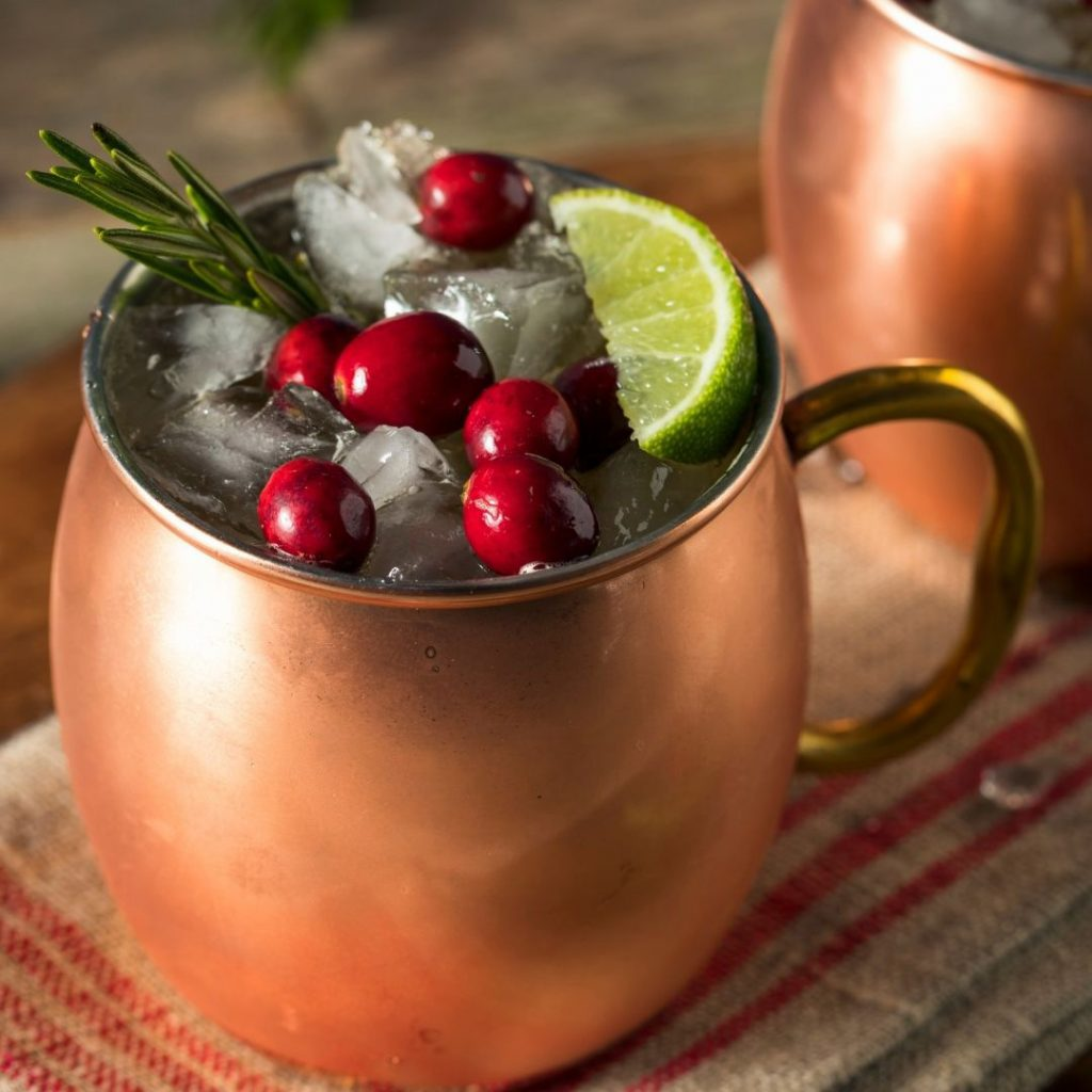 Baby It's Cold Outside cocktail in a mule mug