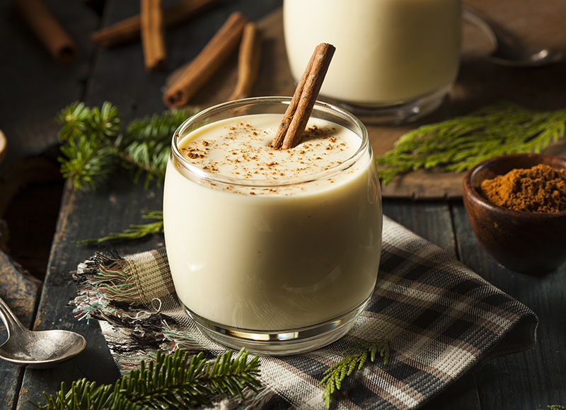 Image for a eggnog cocktail with barrel aged rum