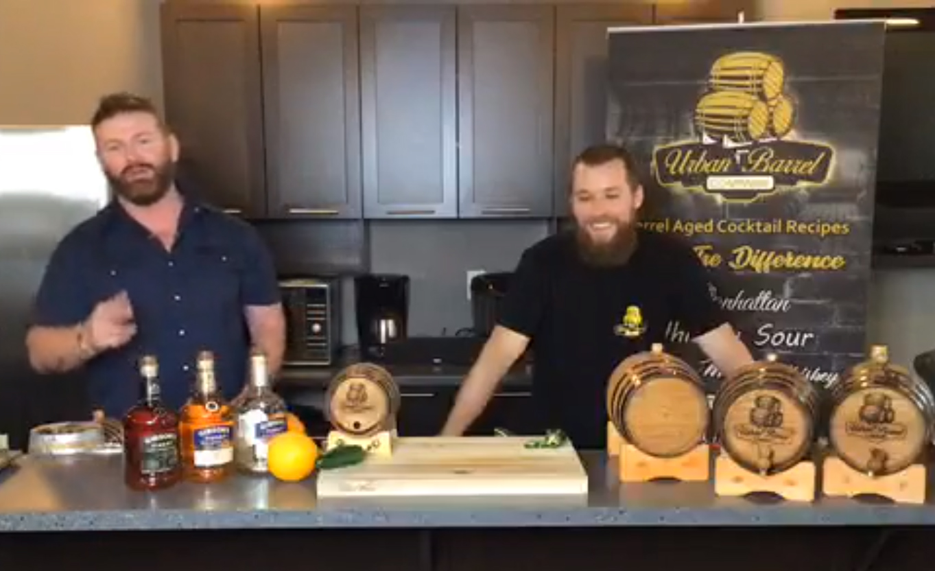 Still from Facebook live Jalapeno Whisky Sour