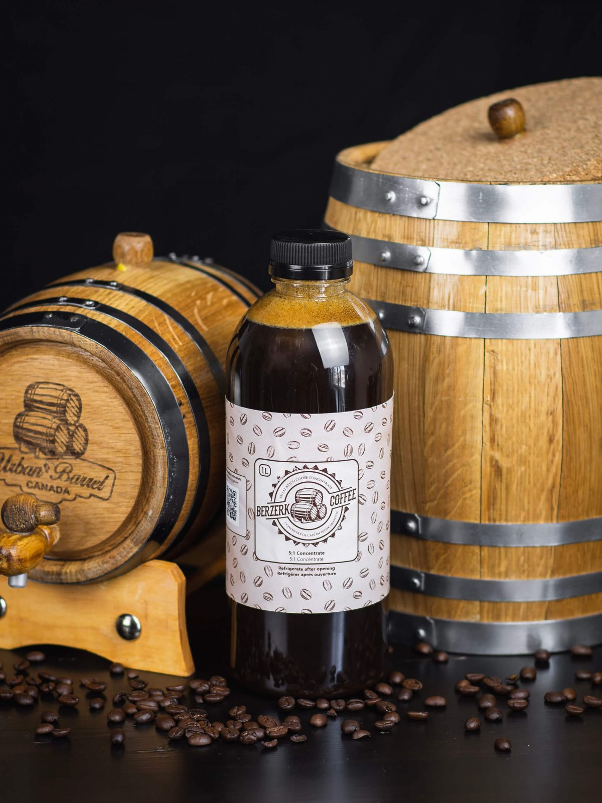 Image of coffee concentrate for barrel-aging cold brew coffee.