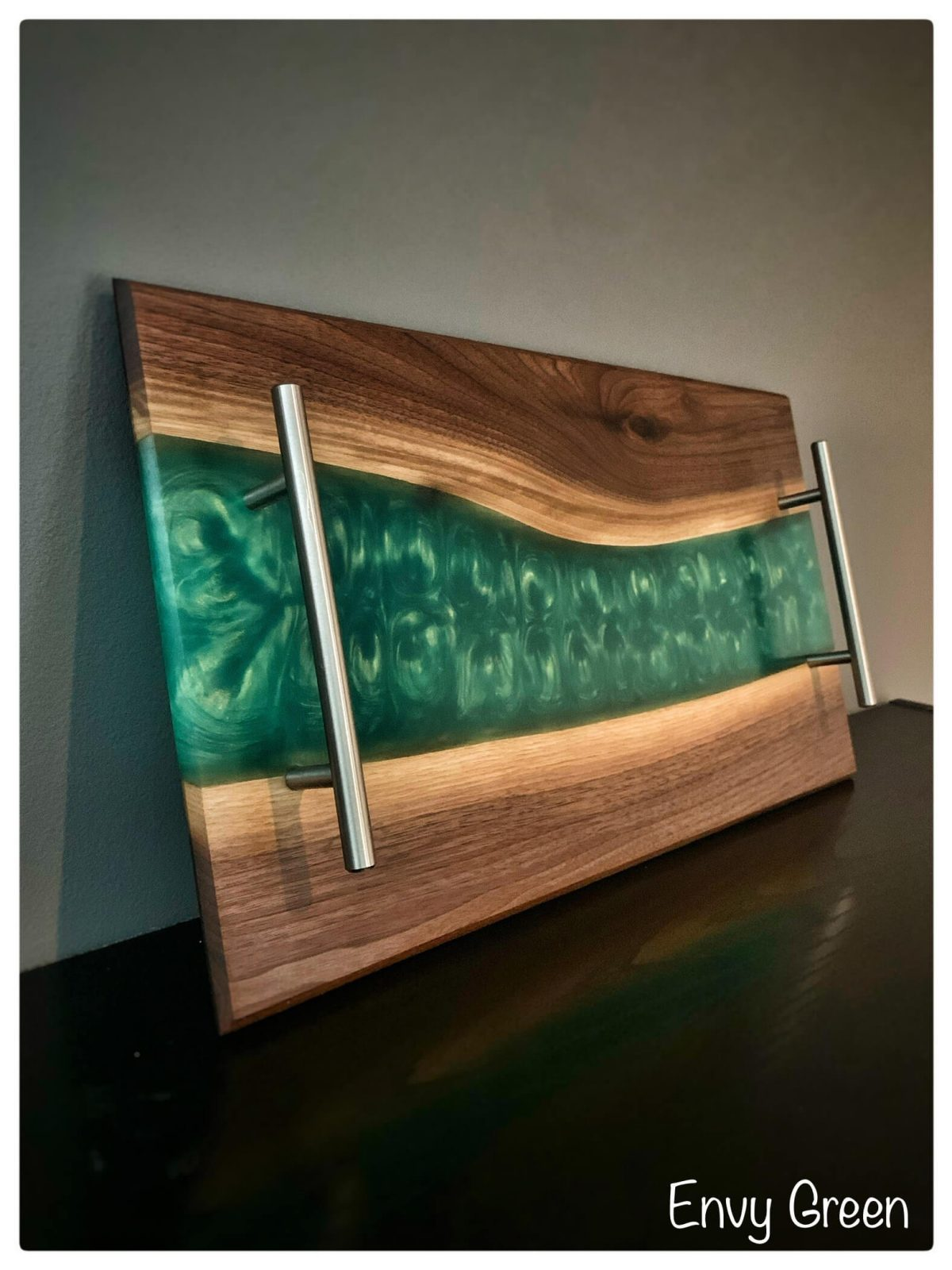 Image of Charcuterie Board with Epoxy River