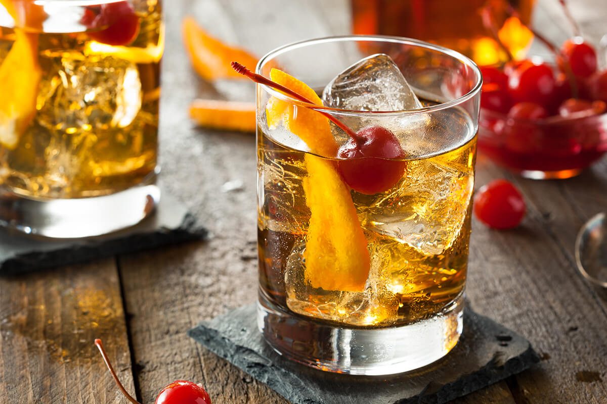 Image of a Maple Old Fashioned cocktail