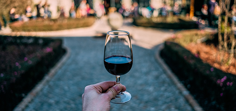 Photo of a glass of port